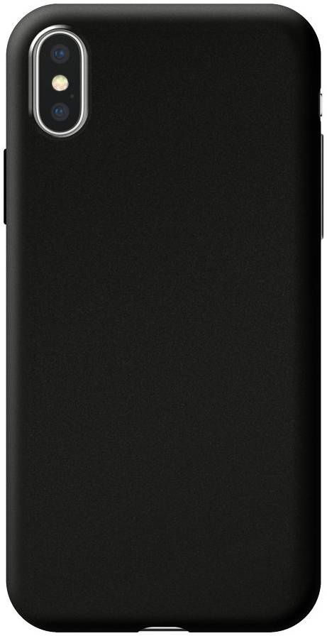 Чехол Deppa Case Silk для Apple iPhone XS Max (Черный металлик) чехол deppa case silk для apple iphone x xs синий металлик