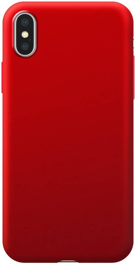 Чехол Deppa Case Silk для Apple iPhone XS Max (Красный металлик) чехол deppa case silk для apple iphone x xs синий металлик