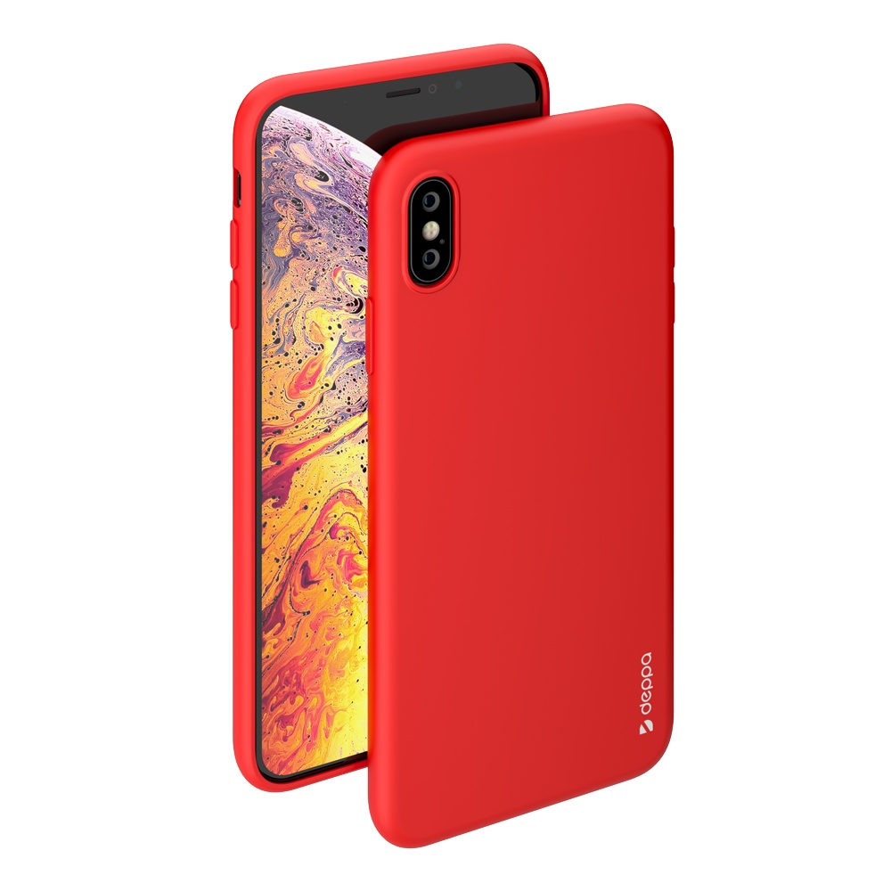Чехол Deppa Gel Color Case для Apple iPhone XS Max (Красный)