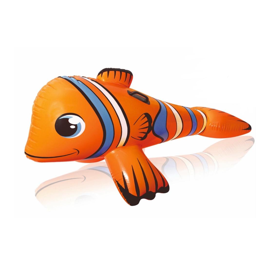 Матрас надувной плавательный Рыба-клоун 147 х 87 56 см