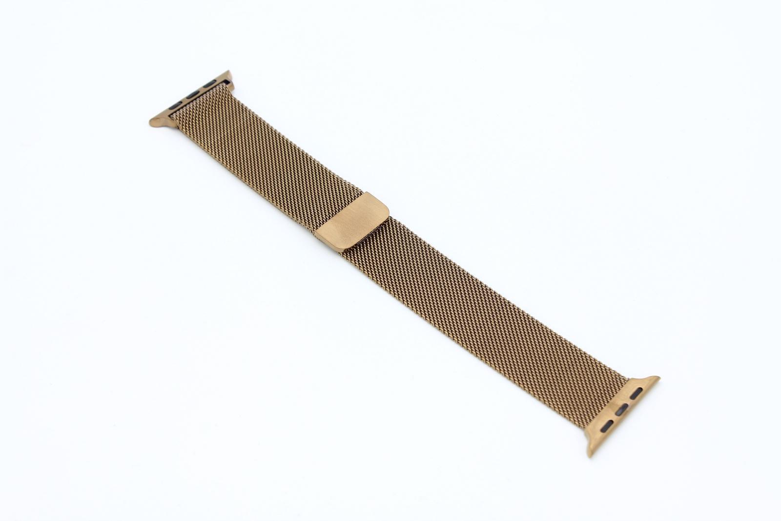 Ремешок металлический Миланская петля для Apple Watch 42/44 мм, коричневый цена