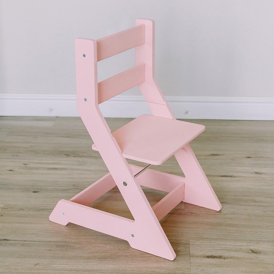 Детский стул MYPLAYROOM регулируемый по высоте, розовый