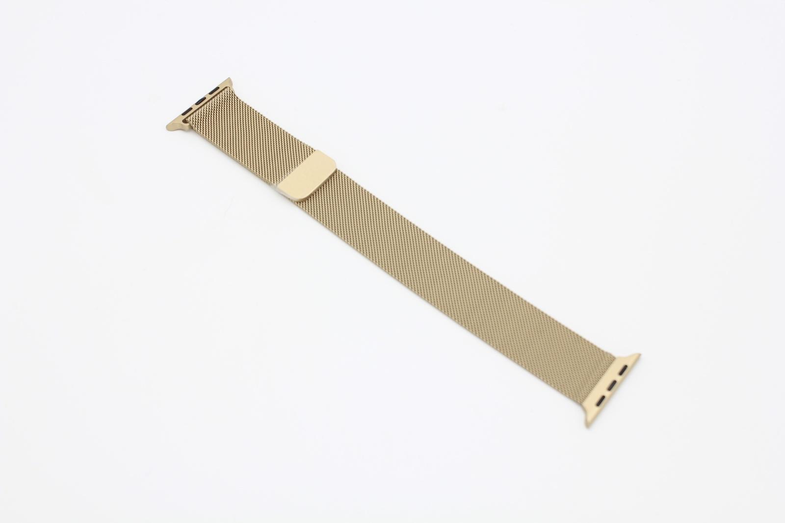 Ремешок металлический Миланская петля для Apple Watch 42/44 мм, светлое золото цена