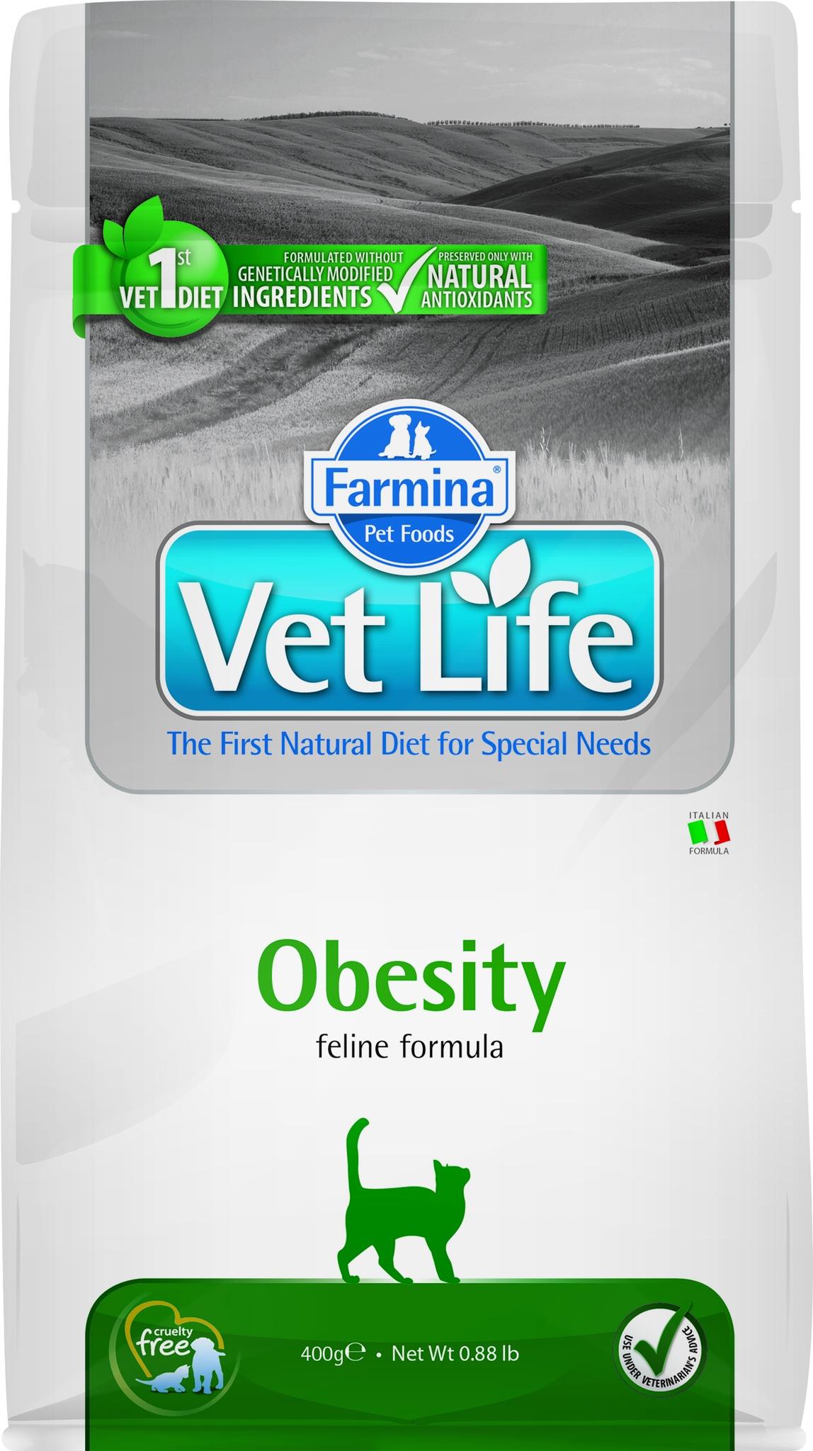Farmina Vet корм для котят и взрослых кошек всех пород, контроль веса (2 кг)