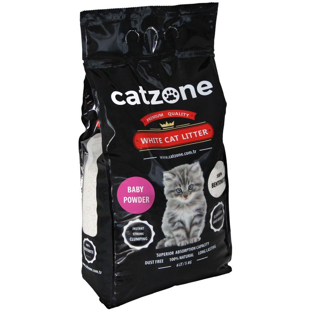 Наполнитель для кошачьих туалетов Catzone Baby Powder, бентонитовый, 5 кг catzone наполнитель для кошачьего туалета catzone baby powder 5 2 кг