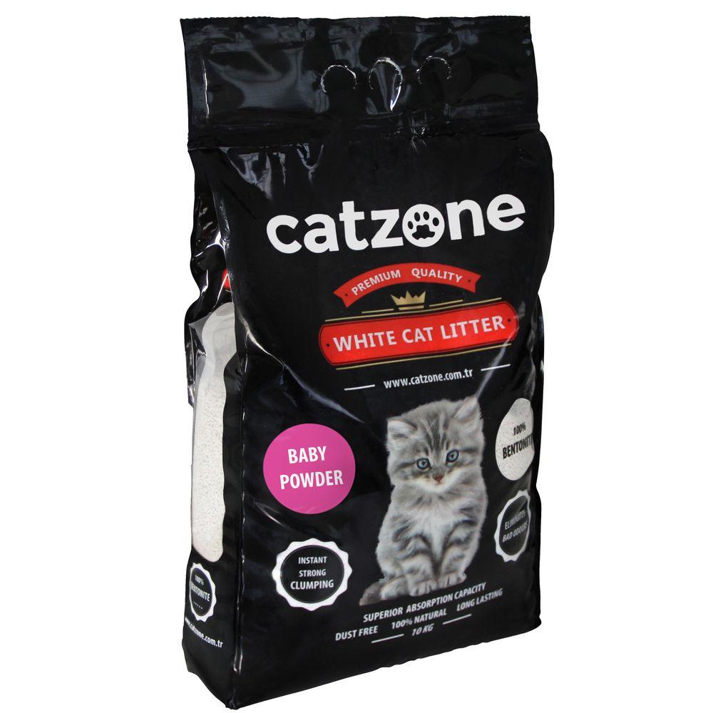 Наполнитель для кошачьих туалетов Catzone Baby Powder, бентонитовый, 10 кг catzone наполнитель для кошачьего туалета catzone baby powder 5 2 кг