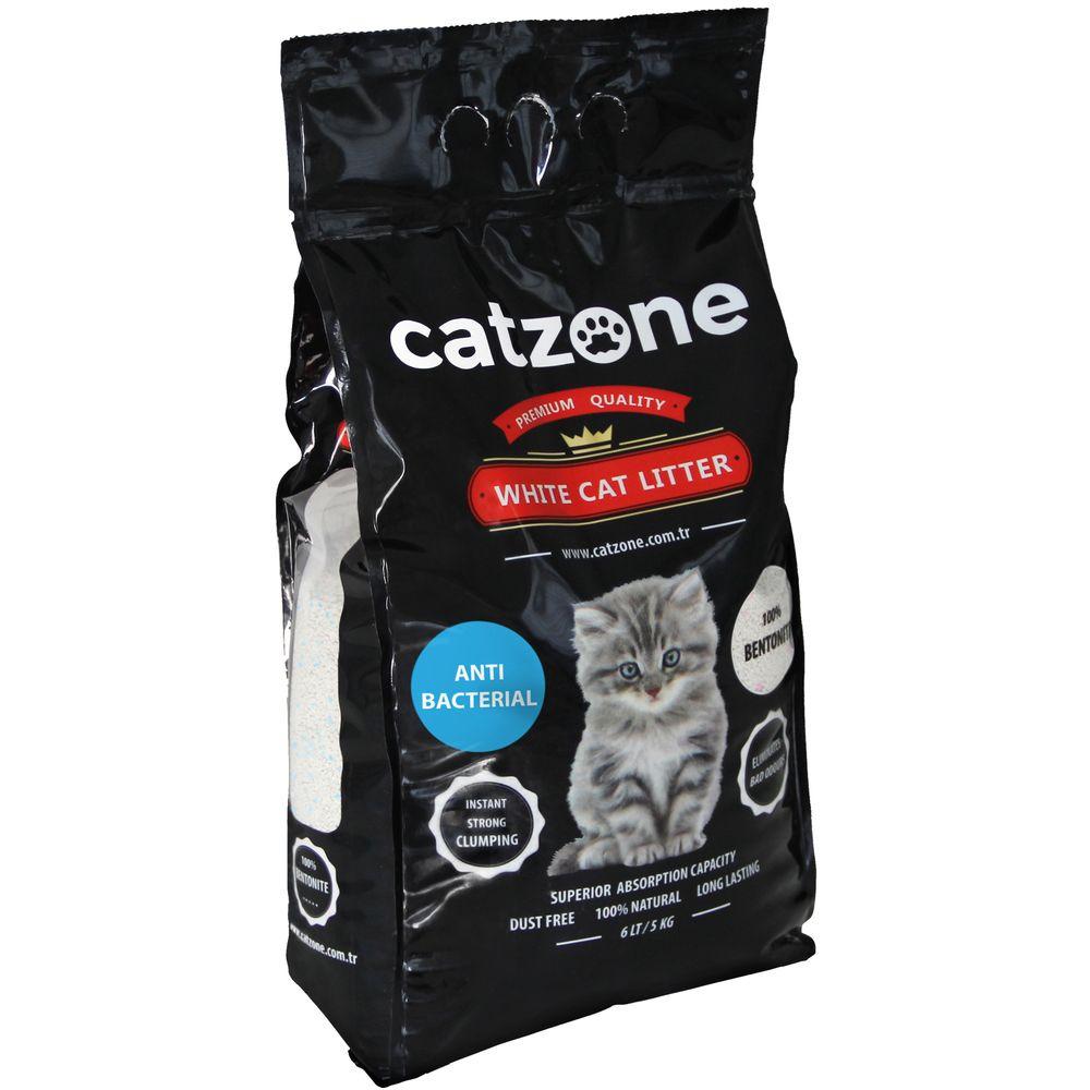 Наполнитель для кошачьих туалетов Catzone Antibacterial, бентонитовый, антибактериальный, 5 кг catzone наполнитель для кошачьего туалета catzone baby powder 5 2 кг
