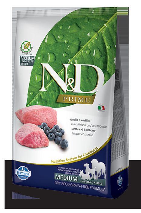 Корм сухой Farmina N&D, для собак, беззерновой, с ягненком и черникой, 2,5 кг корм сухой farmina n