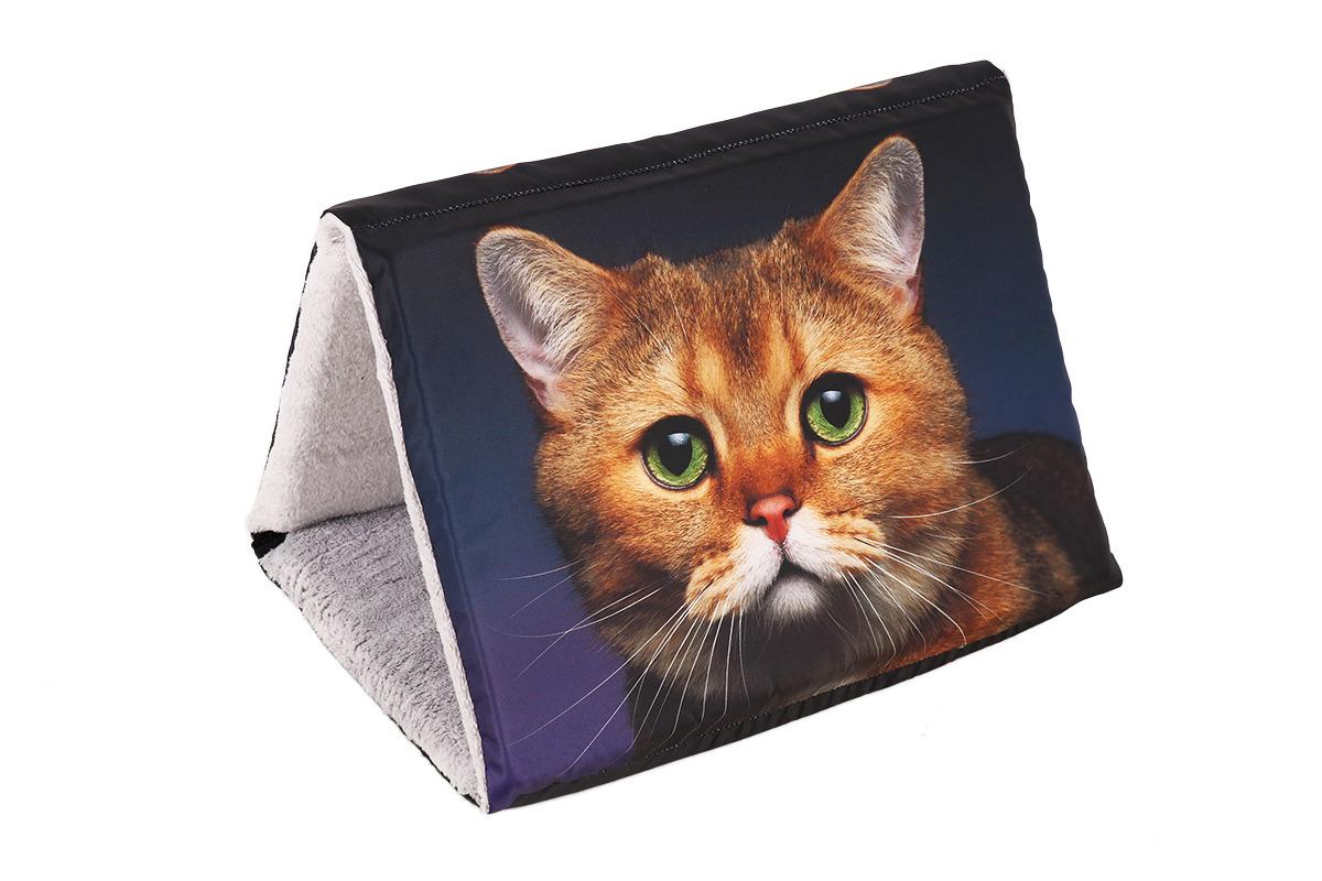 Фото - Домик для животных PerseiLine Рыжий кот, шалаш и лежак 2 в 1, ДМД-4, мультиколор, 46 х 36 х 36 см домик triol шалаш для мелких животных 25 х 16 х 12 см