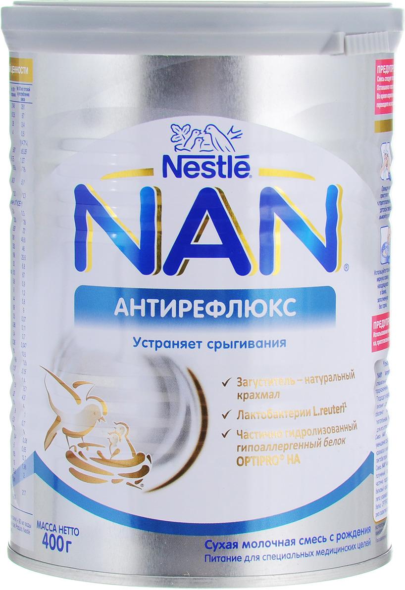 NAN Антирефлюкс смесь молочная, с рождения, 400 г молочная смесь nan pre с рождения 400 гр