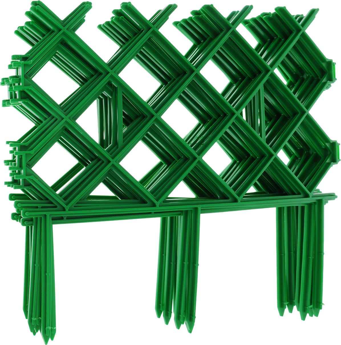Забор декоративный Комплект-Агро Палисад, цвет зеленый 19 см х 3 м табурет садовый комплект агро 35 х 22 х 26 см