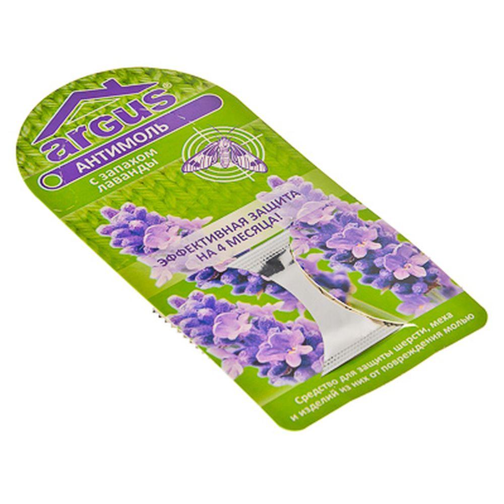 Фото - Антимоль Argus, с запахом лаванды подвеска от моли raid антимоль с ароматом весенних цветов 12 шт