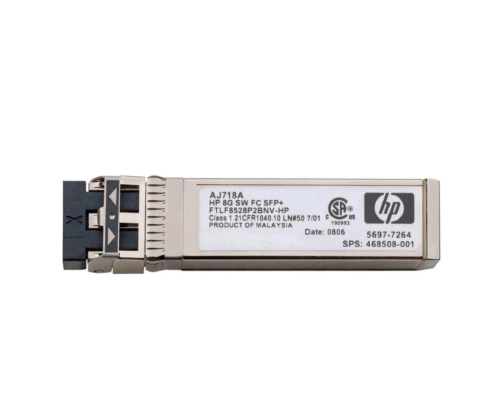Трансивер HPE AJ718 ASFP+ 468508-001, 5697-7264 трансивер hp 8gb short wave transceiver kit 4 pk c8r23a c8r23a
