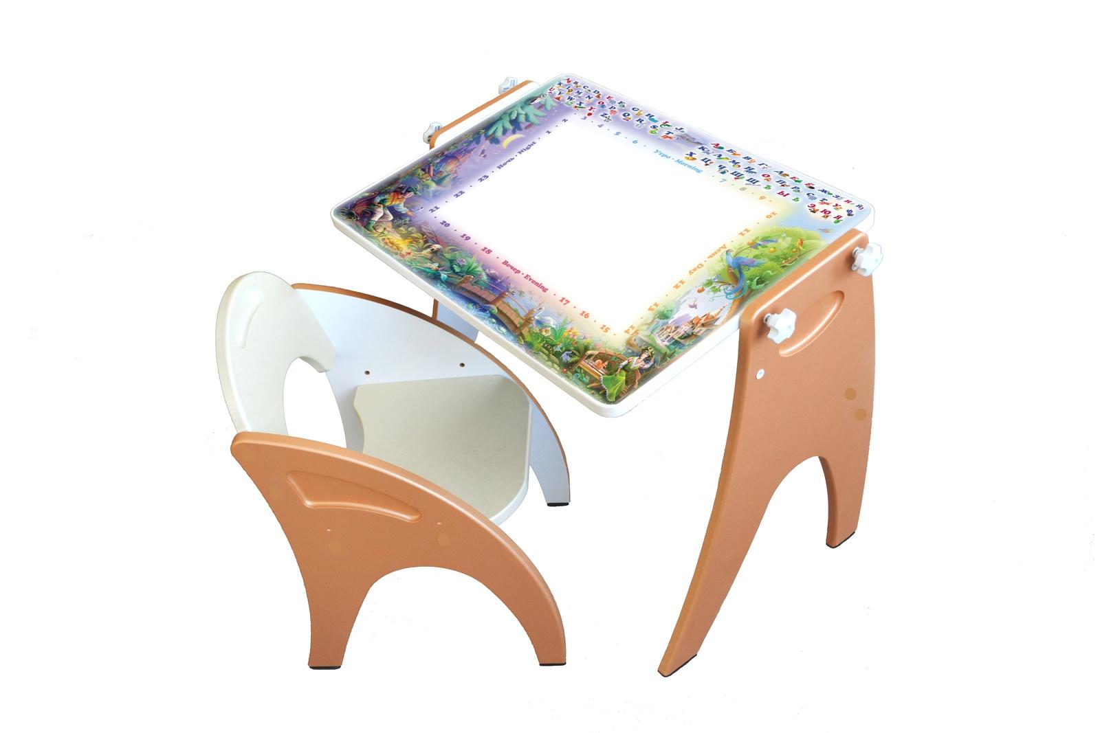 Набор детской мебели ТРАНСФОРМЕР Персиковый День-Ночь набор детской мебели интехпроект трансформер розовый