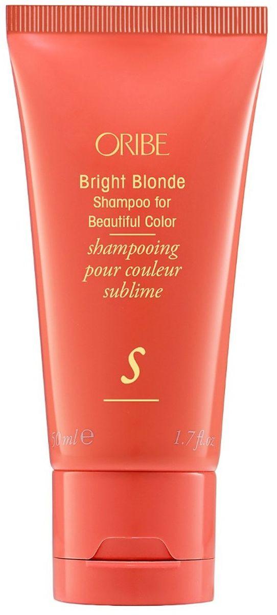Шампунь для волос Oribe Bright Blonde Shampoo for Beautiful Color Великолепие цвета для светлых волос, 50 мл