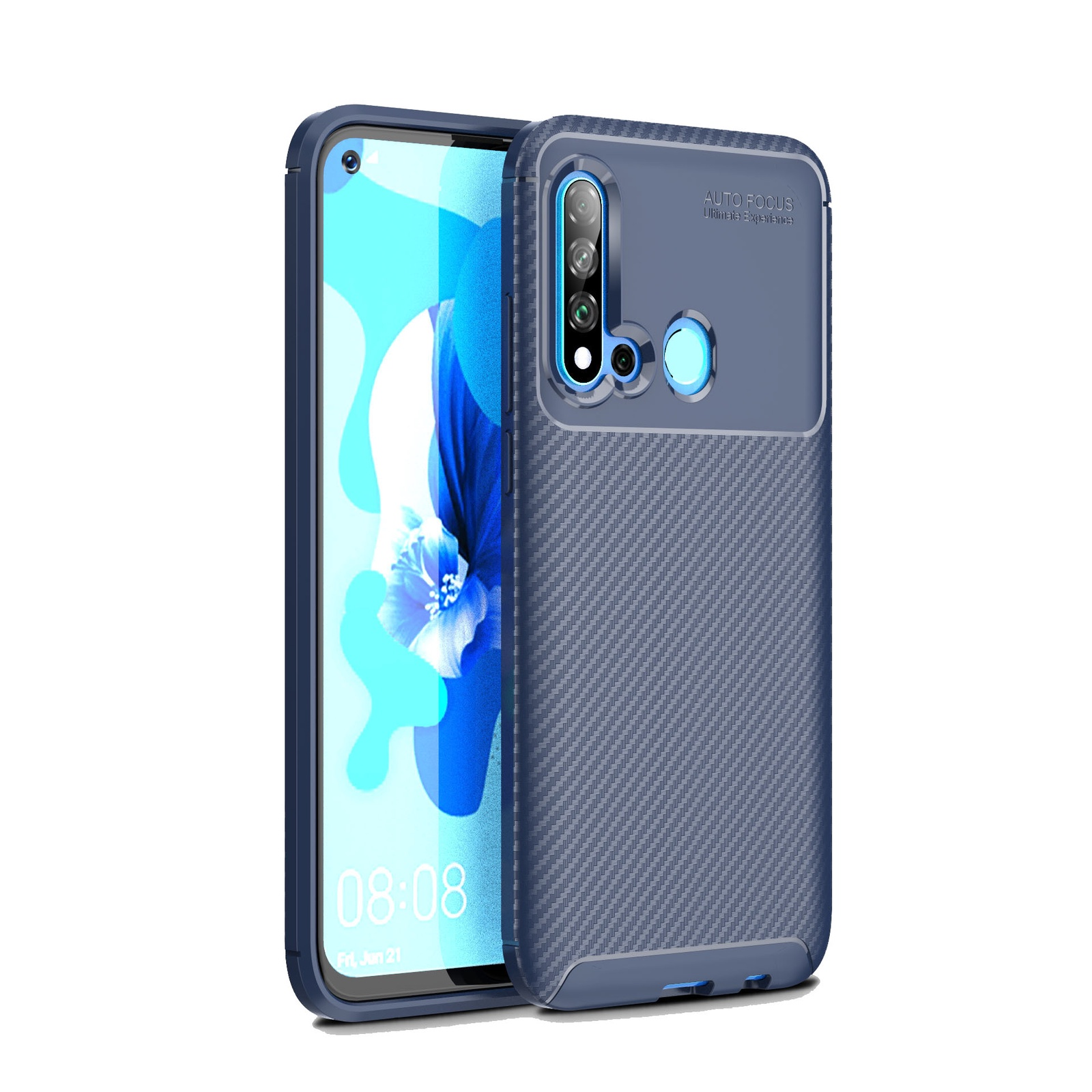 Для Huawei Honor 10i чехол синий Мягкий ТПУ/углеродное волокно узор грязеотталкивающий ударопрочный чехол для телефона задняя защита чехол