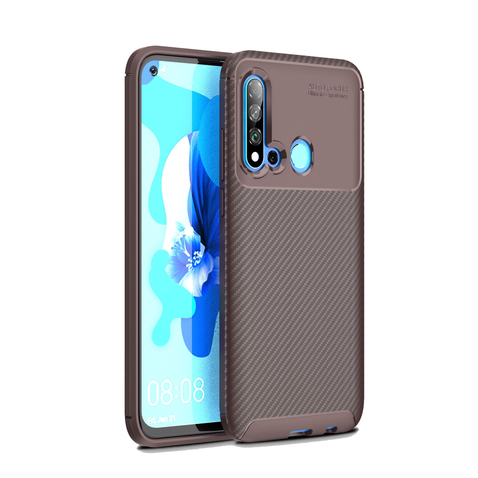 Для Huawei Honor 10i чехол коричневый Мягкий ТПУ/углеродное волокно узор грязеотталкивающий ударопрочный чехол для телефона задняя защита чехол