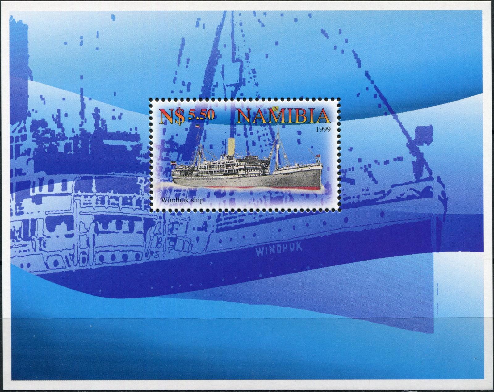 Намибия. 1999. Пассажирский лайнер Виндхук (Блок. MNH OG)