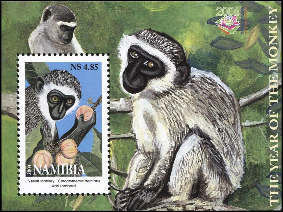 Намибия. 2004. Год обезьяны (Блок. MNH OG)