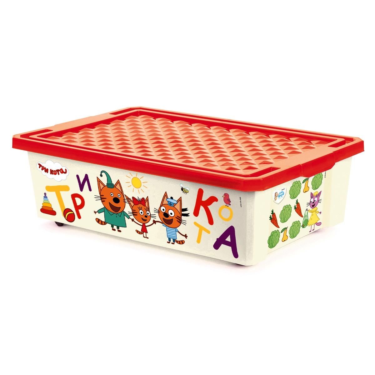 Ящик на колесах под детскую кровать (контейнер, коробка) для игрушек с крышкой, хранение детских вещей цена и фото