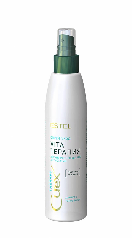 Спрей-уход облегчение расчесывания для всех типов волос CUREX THERAPY, 200 мл curex therapy спрей уход облегчение расчесывания для всех типов волос эстель spray conditioner 200 мл