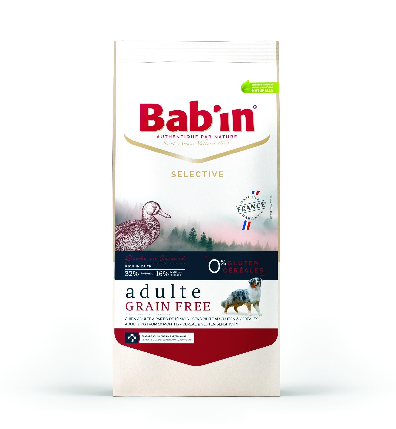 Сухой корм Babin Selective Adulte Grain Free Canard для взрослых собак, 0% глютена и злаков, 3 кг