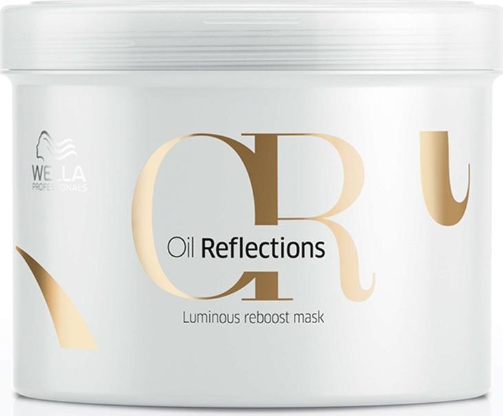 Wella Oil Reflections Luminous Reboost Mask - Маска для интенсивного блеска волос 500 мл wella professionals масло для волос oil reflections 100 мл