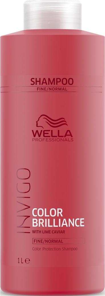 Wella Invigo Color Brilliance Шампунь для защиты цвета окрашенных нормальных и тонких волос, 1 л цены онлайн