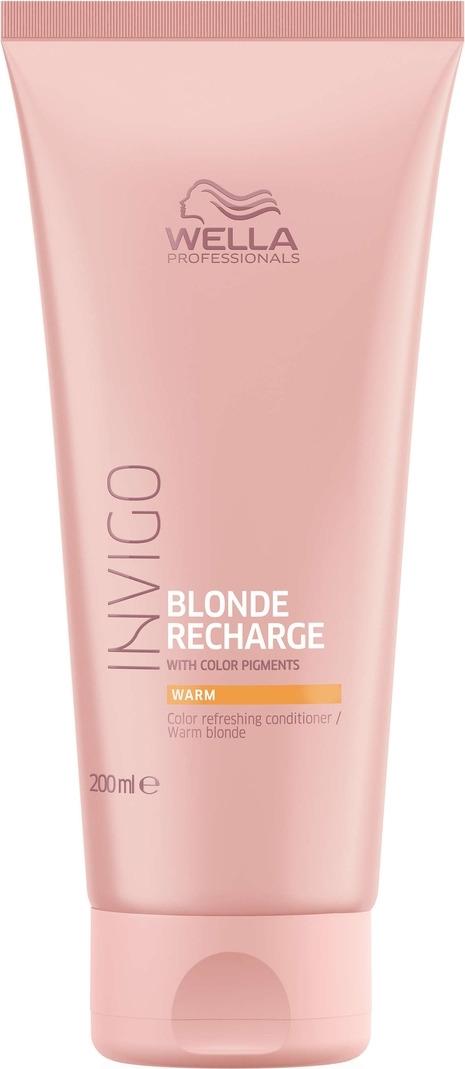 Wella Invigo Blond Recharge Оттеночный бальзам-уход для теплых светлых оттенков, 200 мл