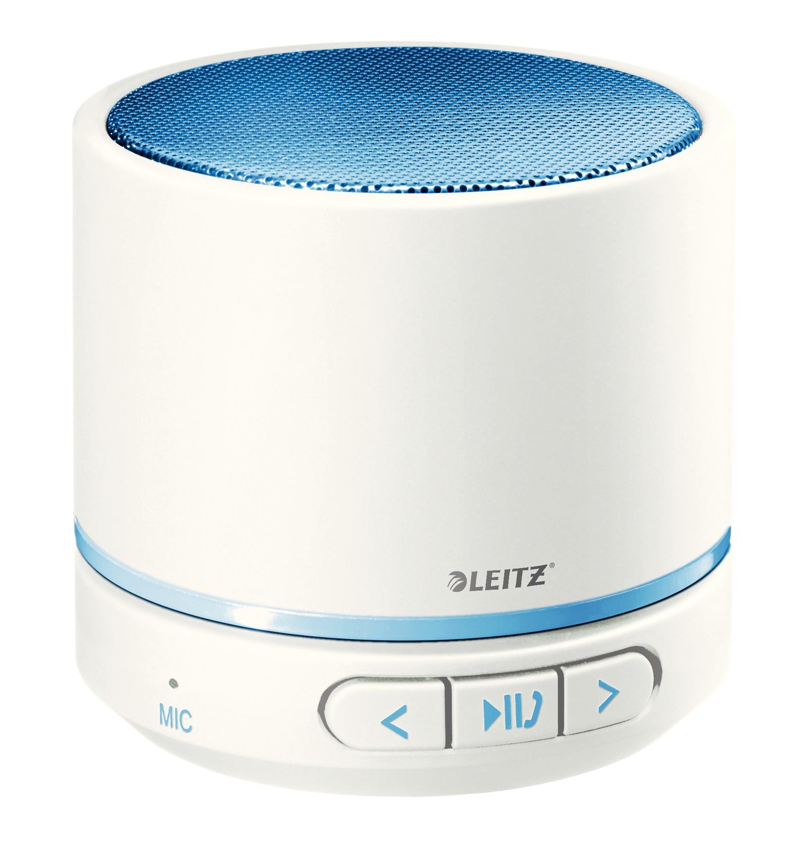 Bluetooth мини-динамик Leitz WOW, синий металлик беспроводной bluetooth динамик громкой связи автомобильный комплект спикер солнцезащитный козырек клип