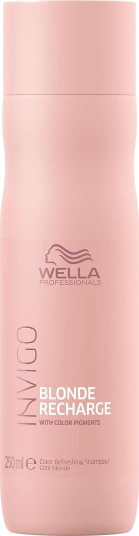 Wella Invigo Blond Recharge Шампунь-нейтрализатор желтизны для холодных светлых оттенков, 250 мл