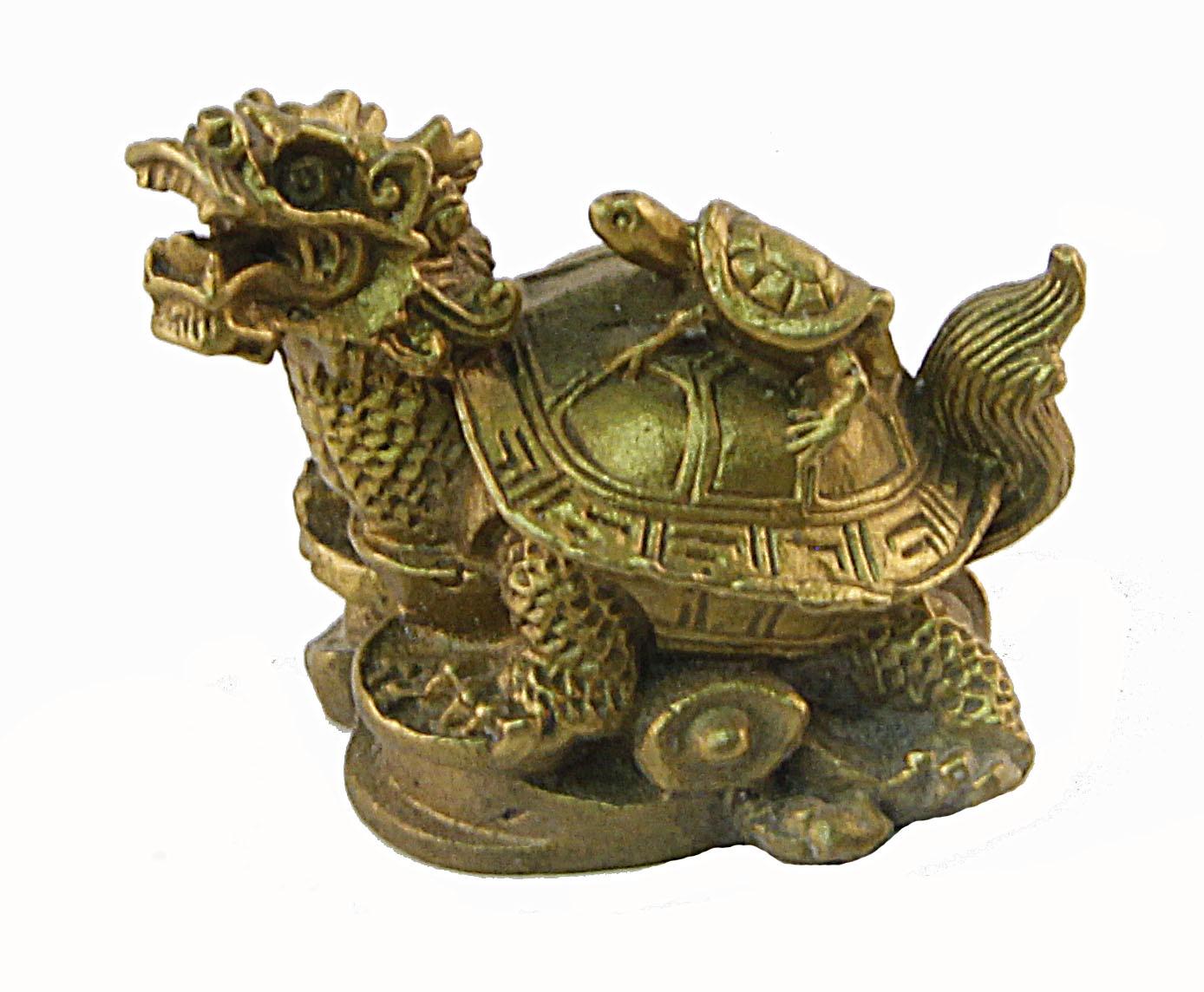 Статуэтка Драконочерепаха. Бронза, прочеканка. Китай. вторая половина XX века