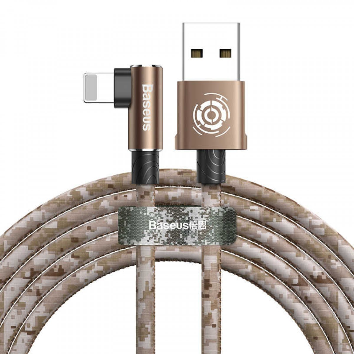 Кабель Baseus Camouflage Mobile Game Cable USB For iPhone 2.4A 1m Brown