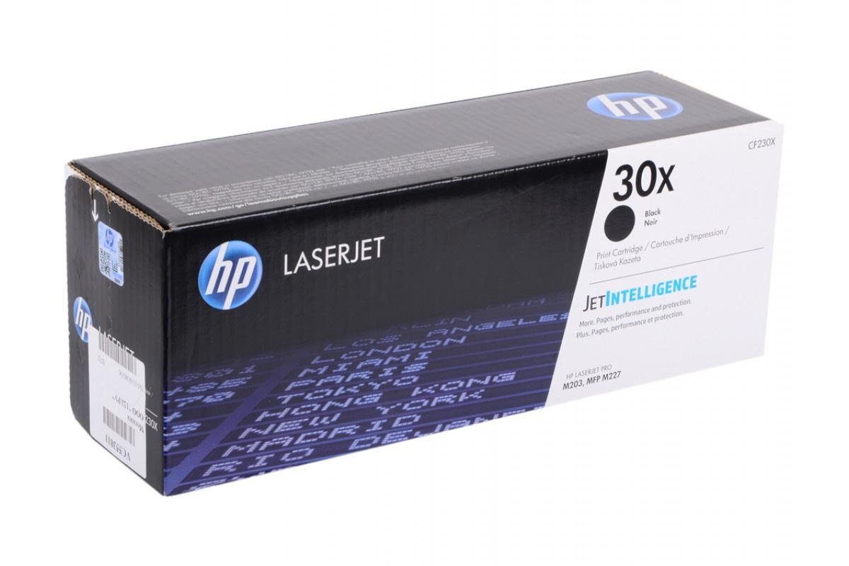 Картридж HP CF230X, черный, для лазерного принтера