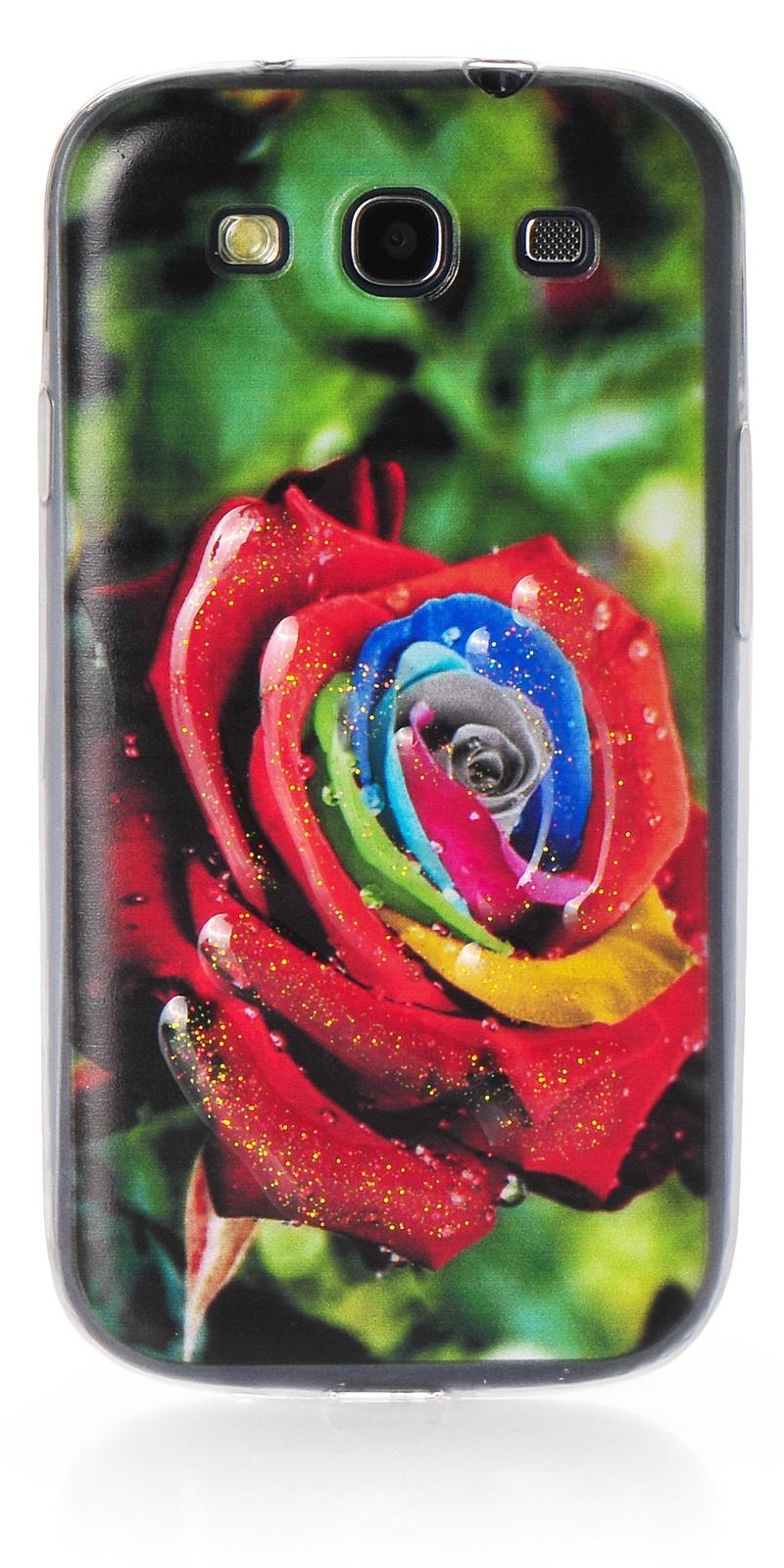 Чехол iNeez накладка силикон цветы стиль 2 для Samsung Galaxy S3,380361,разноцветный