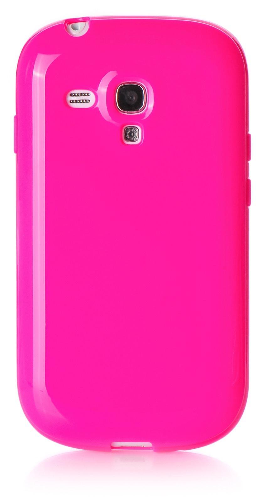 Чехол iNeez накладка силикон мыльница crimson для Samsung Galaxy S3 mini,420021, малиновый