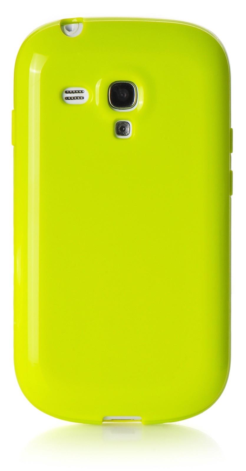 Чехол iNeez накладка силикон мыльница light green для Samsung Galaxy S3 mini,420026, салатовый