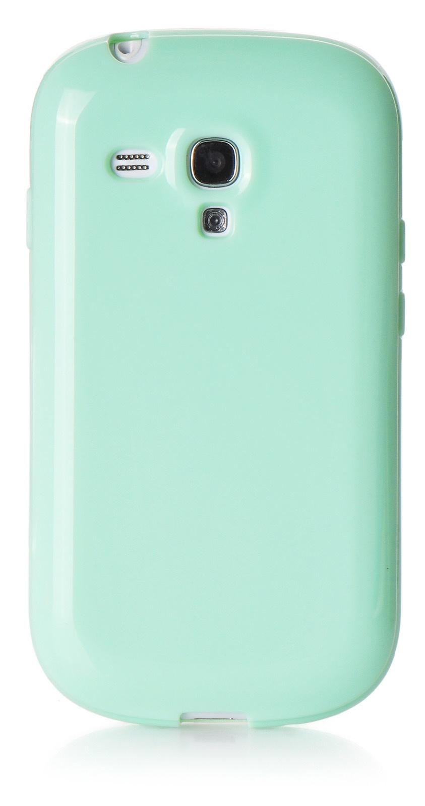 Чехол iNeez накладка силикон мыльница mint для Samsung Galaxy S3 mini,420024, мятный