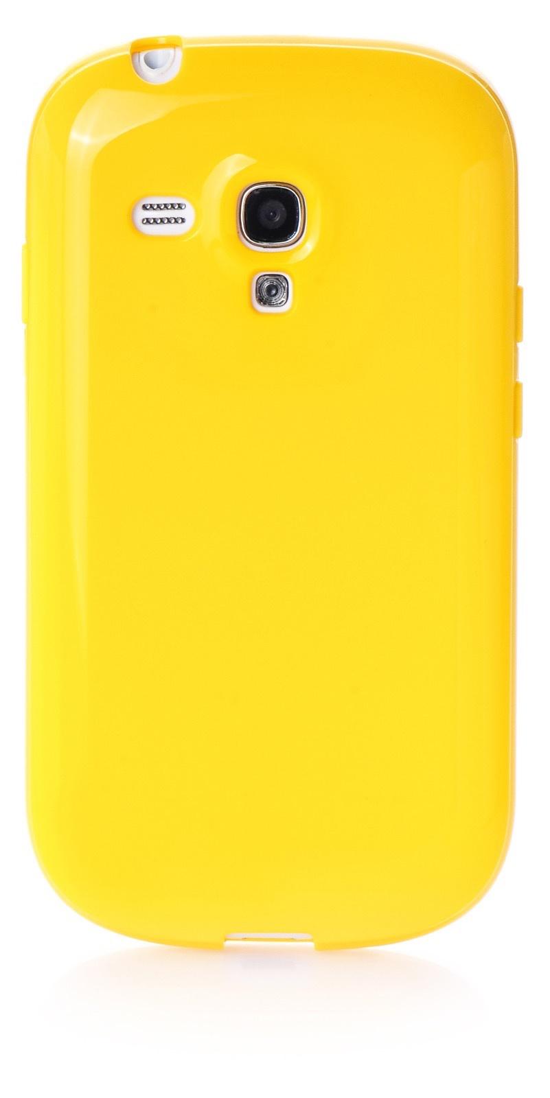 Чехол для Samsung Galaxy S3 mini накладка силикон мыльница yellow для Samsung Galaxy S3 mini