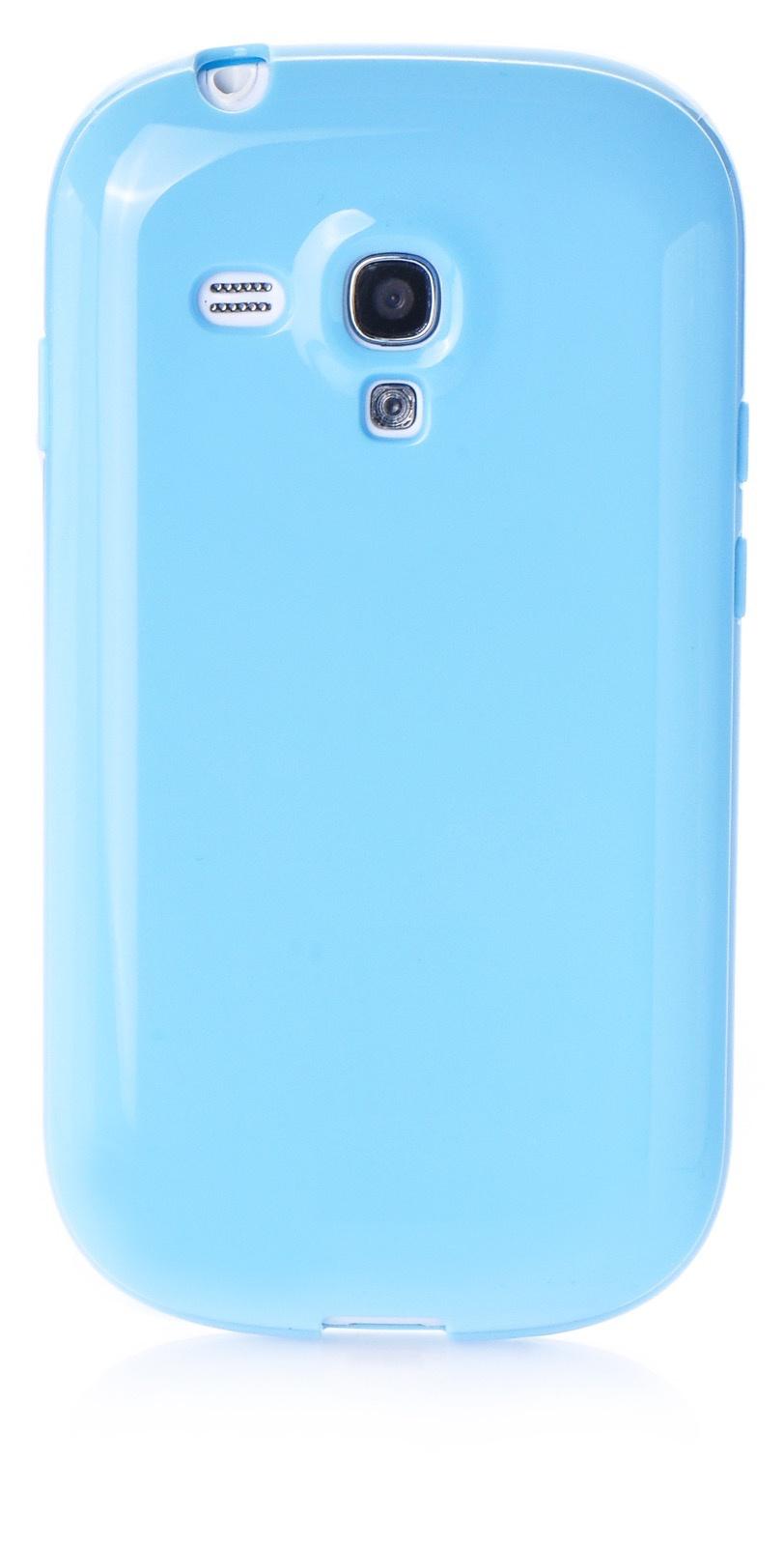 Чехол iNeez накладка силикон мыльница light blue для Samsung Galaxy S3 mini,420032, голубой