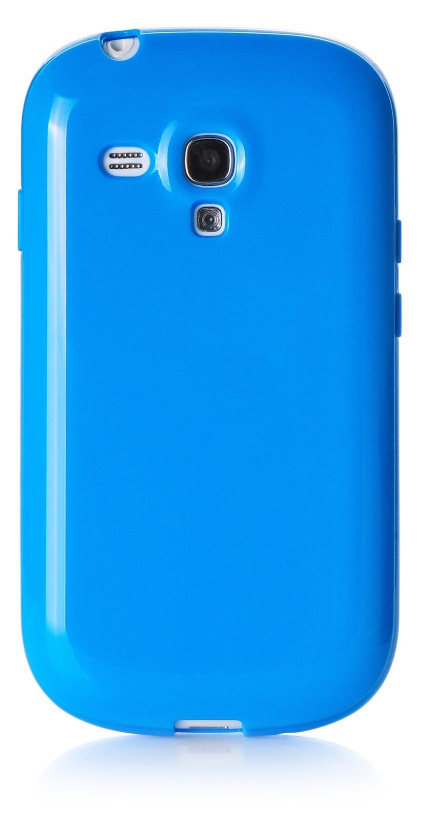 Чехол iNeez накладка силикон мыльница blue для Samsung Galaxy S3 mini,420030, синий