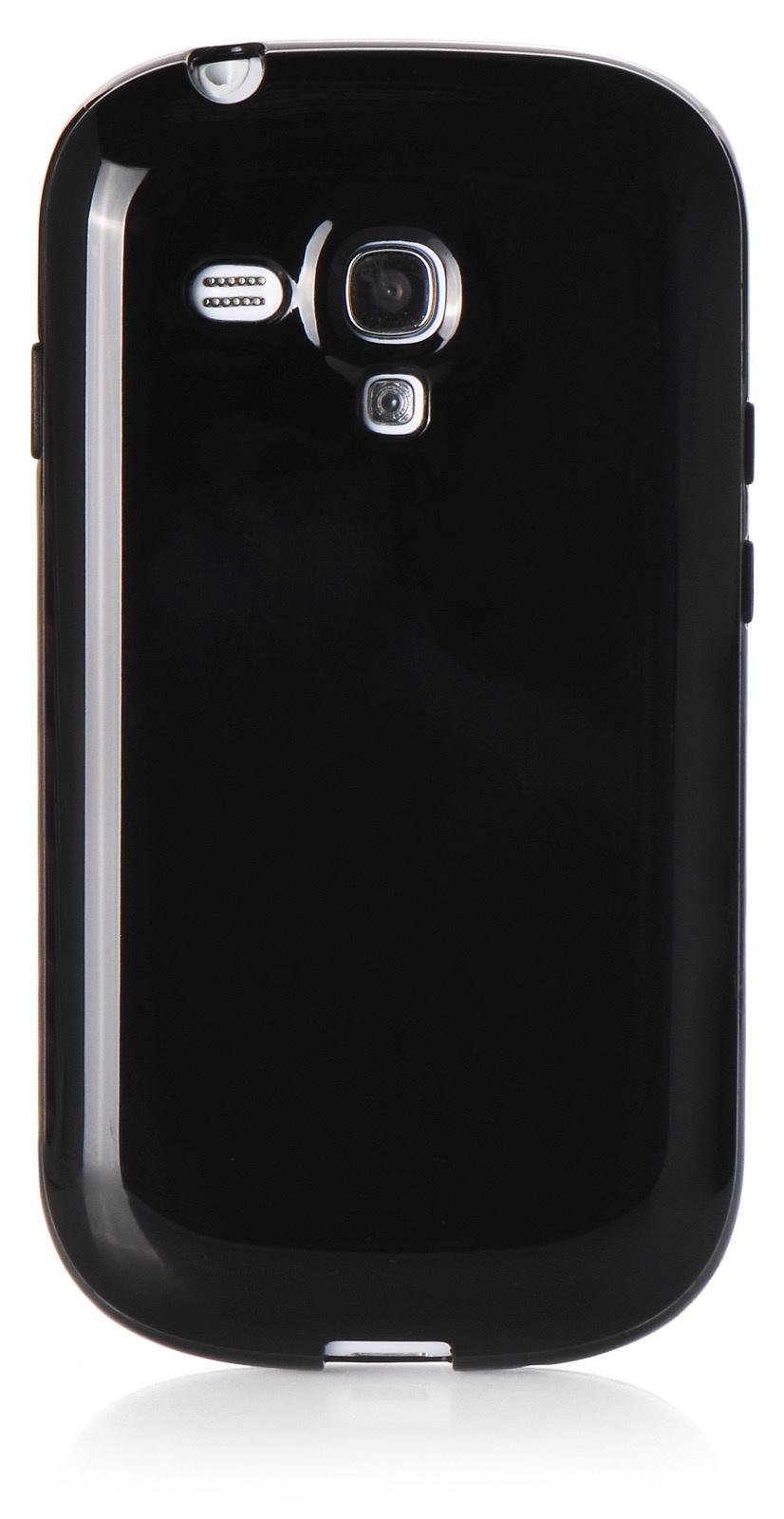 Чехол iNeez накладка силикон мыльница black для Samsung Galaxy S3 mini,420078, черный