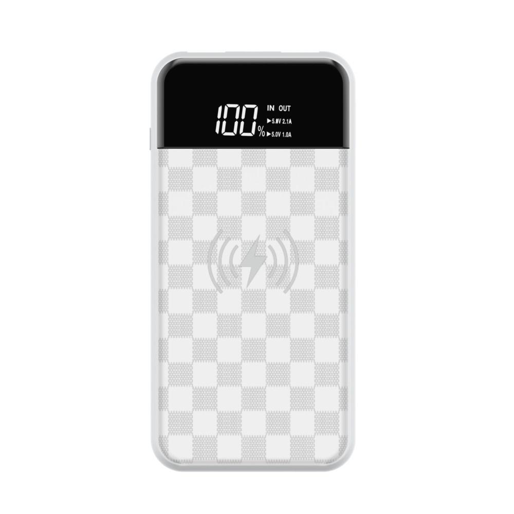 Фото - Внешний аккумулятор с беспроводной зарядкой JU series wireless 8000mAh, Белый внешний аккумулятор perston unicorn 2 белый