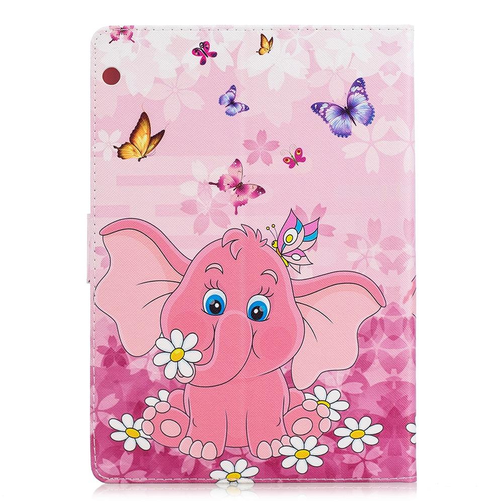 Huawei MediaPad T3 10.0 Case PU кожаный чехол для планшетов Флип Стойка для крышек с слотами для карт Butterfly Elephant