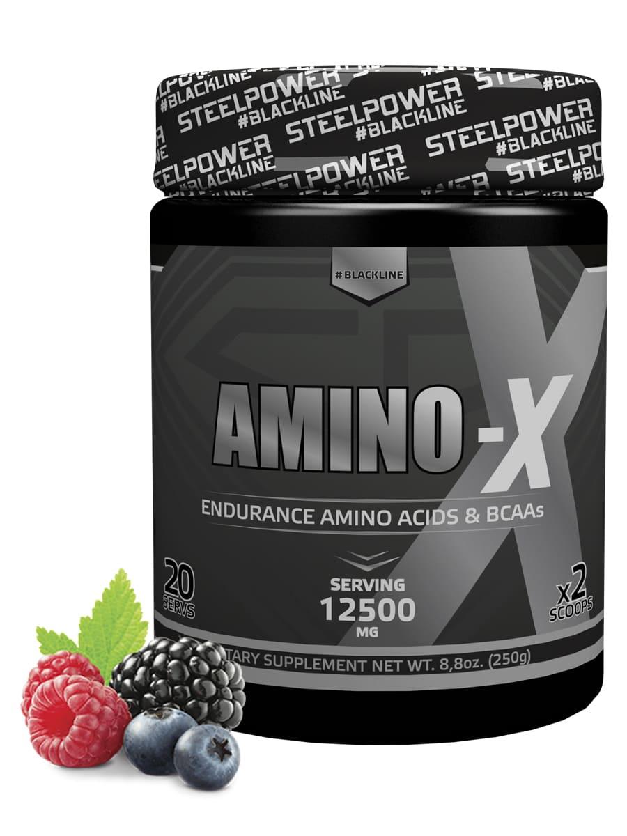 SteelPower Nutrition / Аминокислоты Amino-X, 250 г, Лесные ягоды