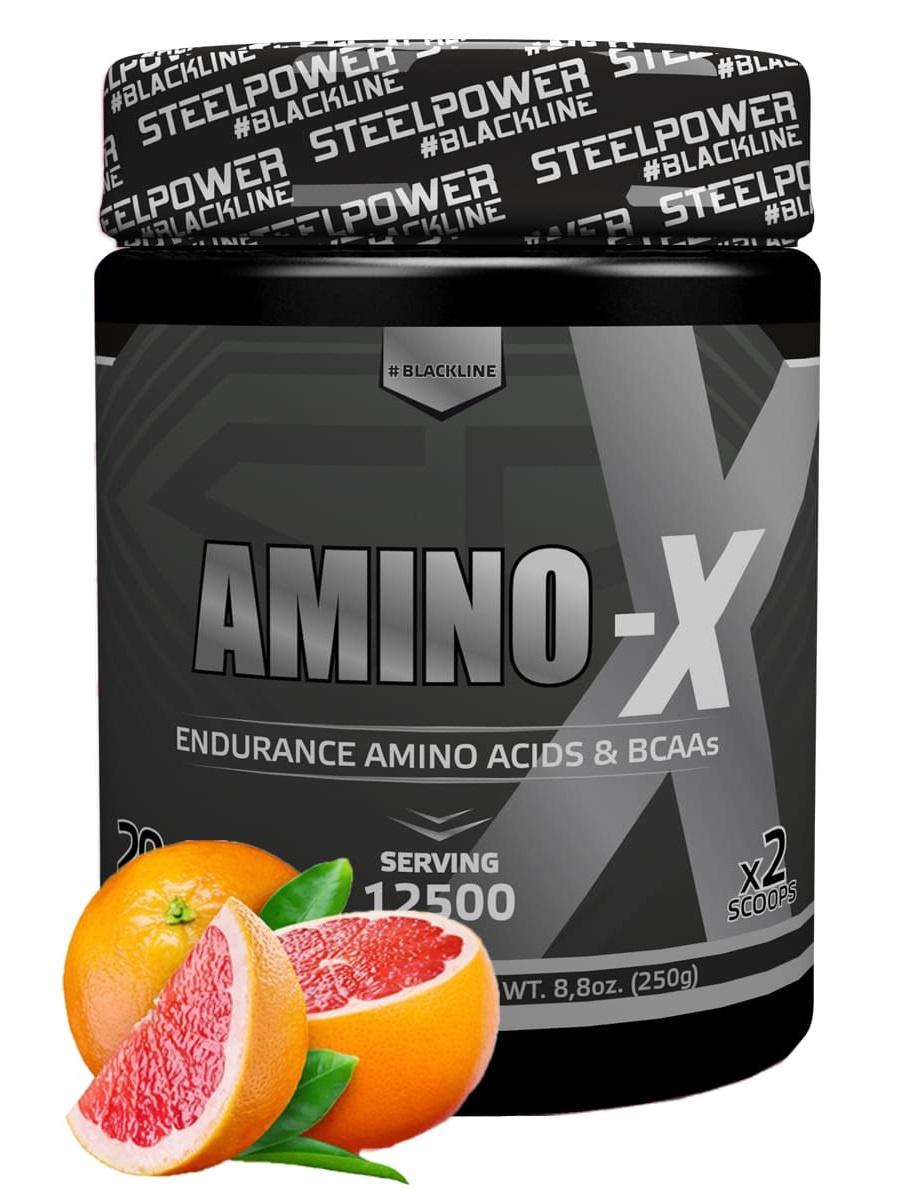 SteelPower Nutrition / Аминокислоты Amino-X, 250 г, Грейпфрут цена