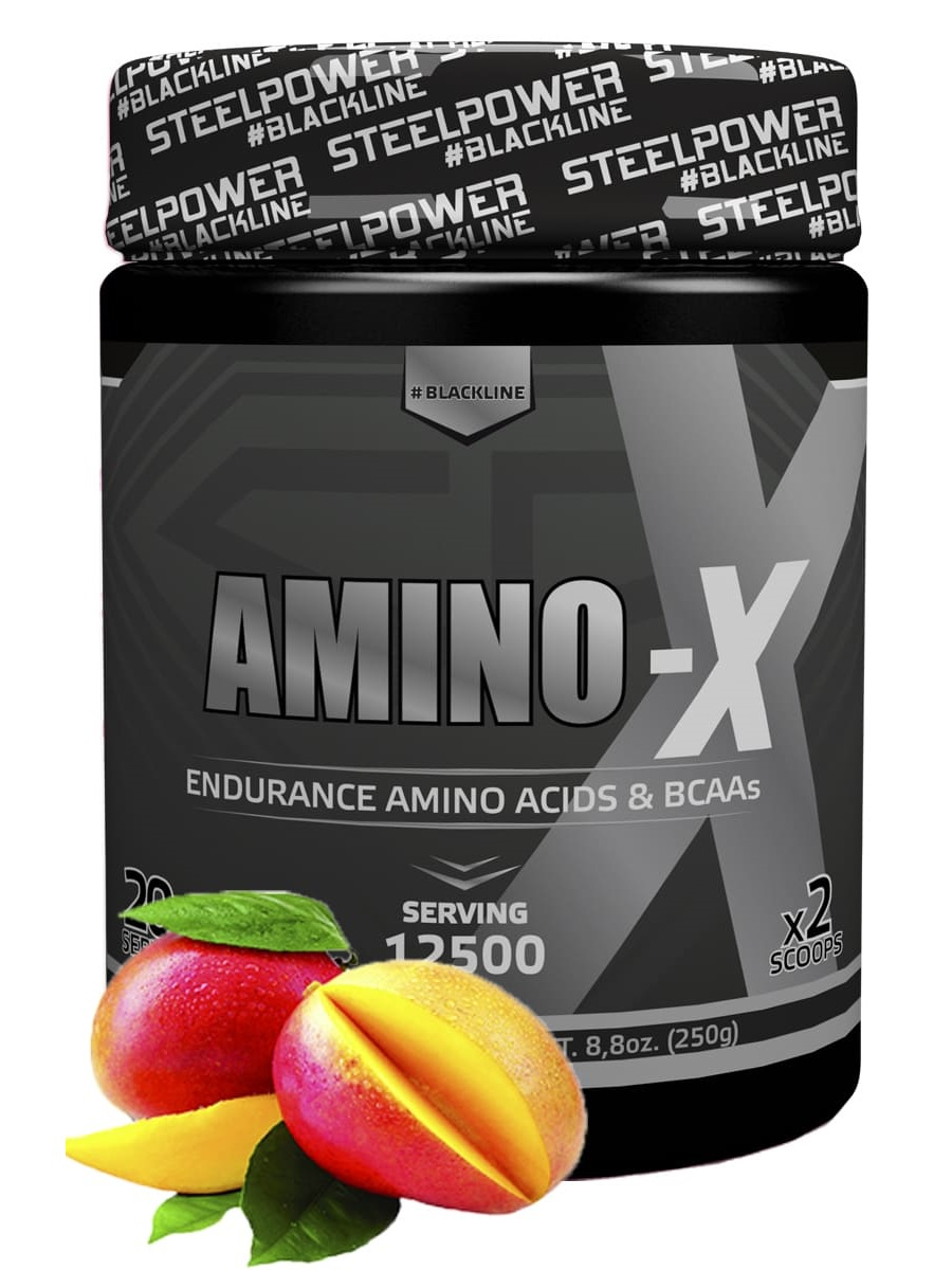 SteelPower Nutrition / Аминокислоты Amino-X, 250 г, Манго цена
