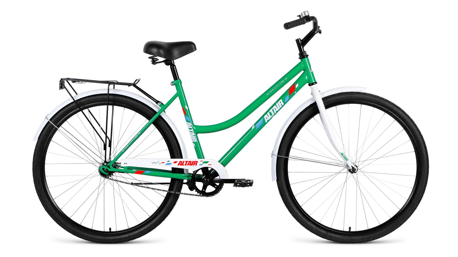 Велосипед Altair City low 28 2019 зеленый