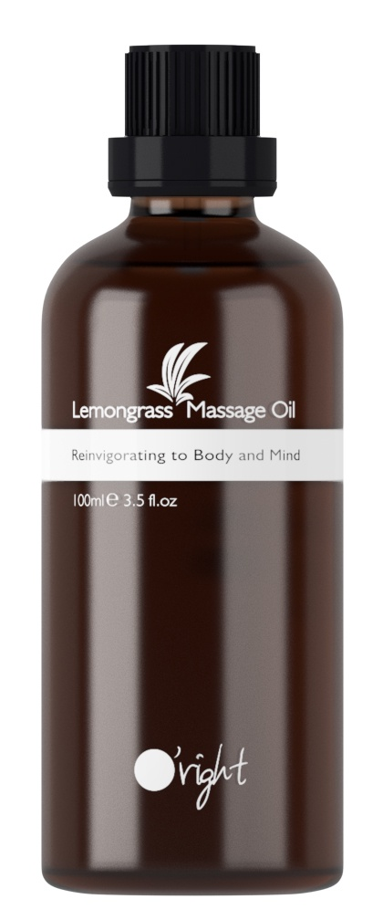 "O'right Массажное масло ""Лемонграсс"", Lemongrass Massage Oil, 100 мл"