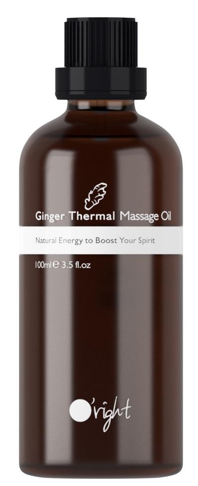 "O'right Разогревающее массажное масло ""Имбирь"", Ginger Thermal Massage Oil, 100 мл"